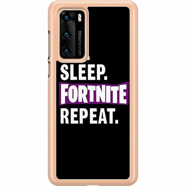 Huawei P40 Hard Case (Transparent) Eat, Sleep, Fortnite, Repeat