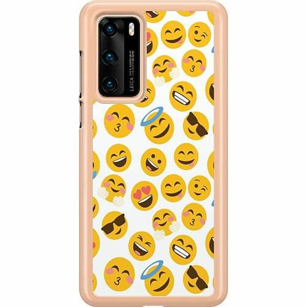 Huawei P40 Hard Case (Transparent) Emoji Mania