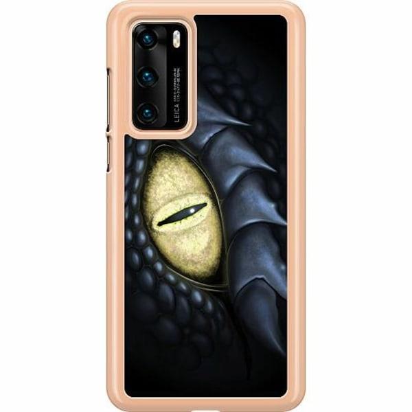 Huawei P40 Hard Case (Transparent) Eye Of The Dragon