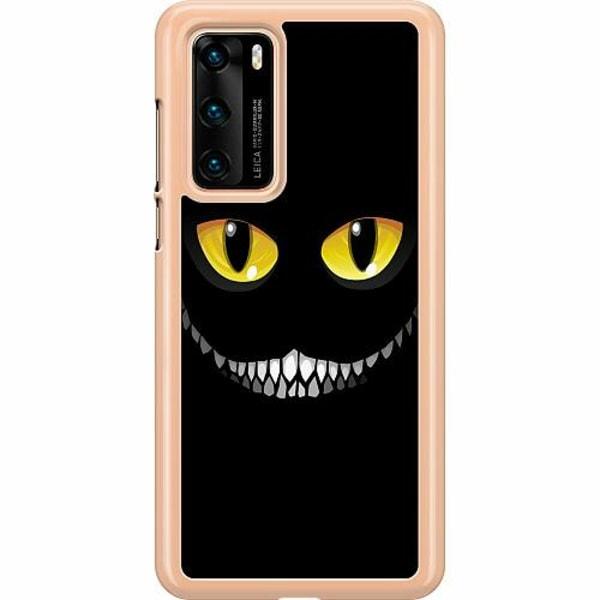 Huawei P40 Hard Case (Transparent) Eyes In The Dark Black