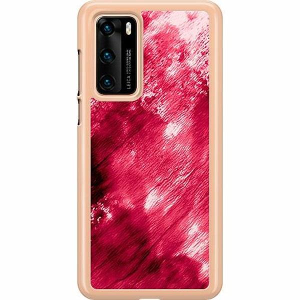 Huawei P40 Hard Case (Transparent) Fake Blood