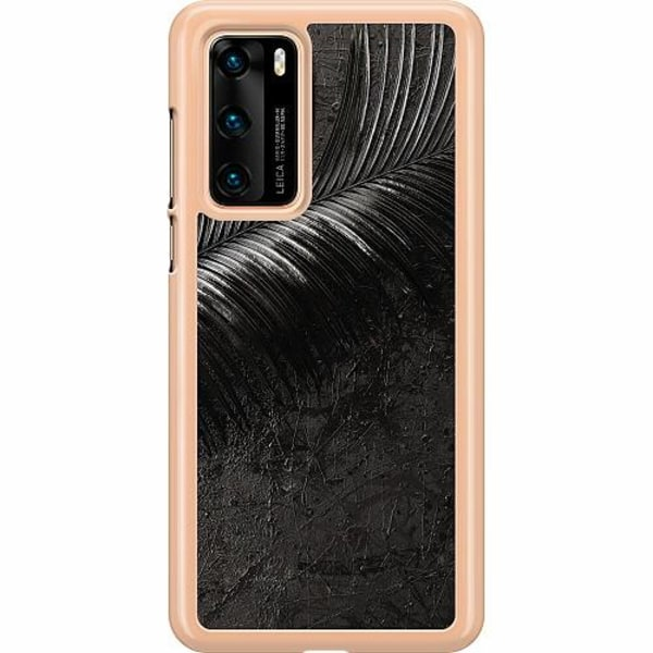 Huawei P40 Hard Case (Transparent) Feathery Ashes