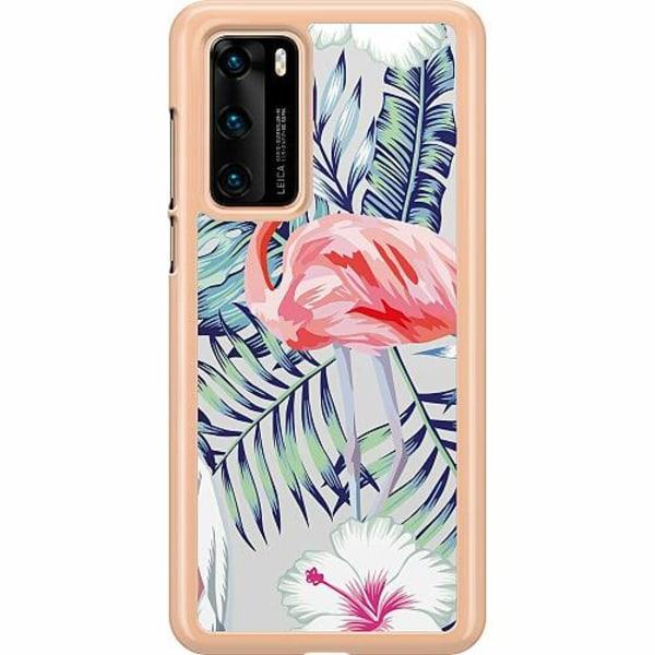Huawei P40 Hard Case (Transparent) Flamingo
