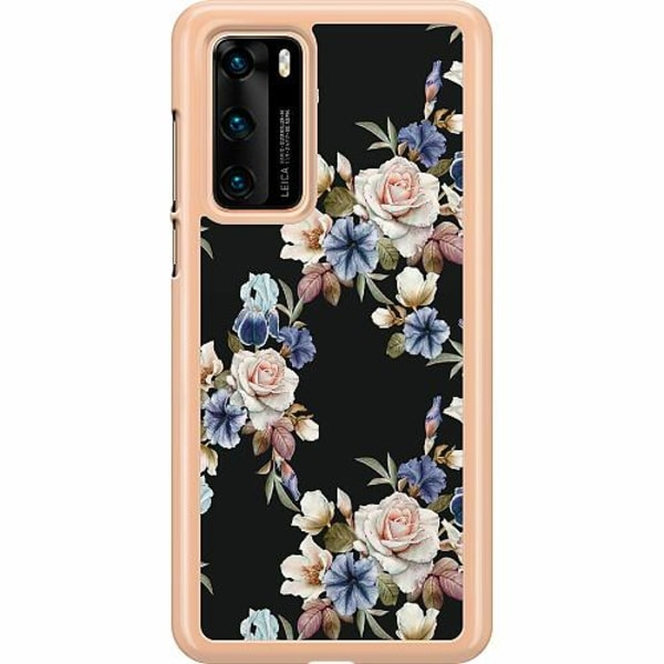 Huawei P40 Hard Case (Transparent) Floral
