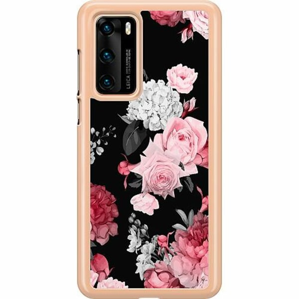 Huawei P40 Hard Case (Transparent) Floral Bloom