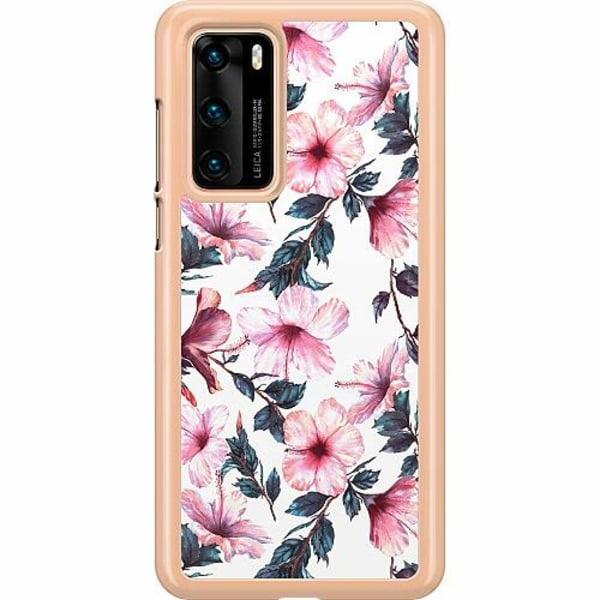 Huawei P40 Hard Case (Transparent) Floral Spring