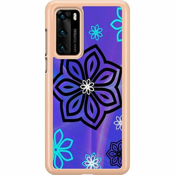 Huawei P40 Hard Case (Transparent) Flower on LCD
