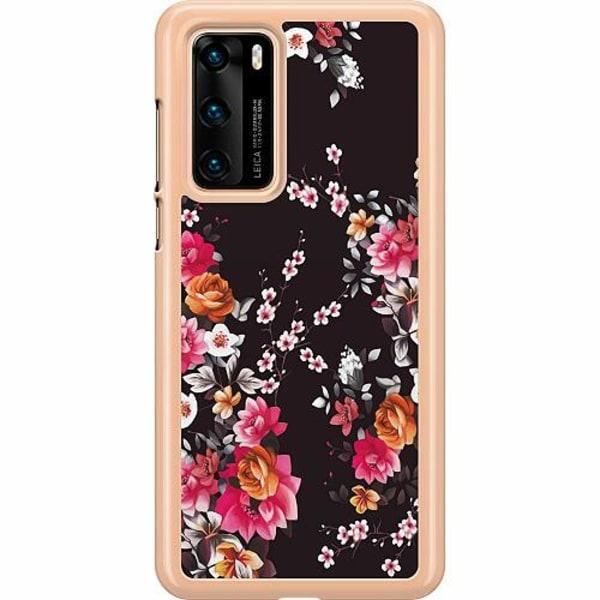 Huawei P40 Hard Case (Transparent) Flower Splash