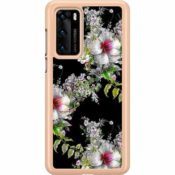 Huawei P40 Hard Case (Transparent) Flower star