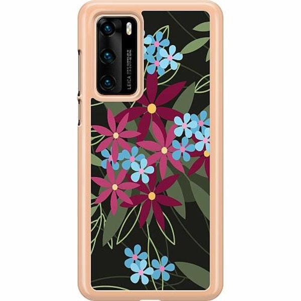 Huawei P40 Hard Case (Transparent) Flowerz