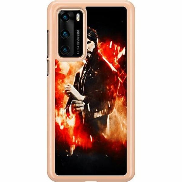 Huawei P40 Hard Case (Transparent) Fortnite John Reaper