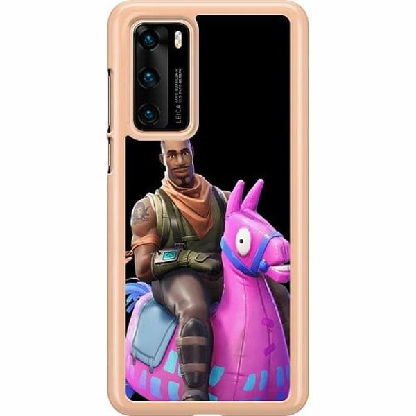 Huawei P40 Hard Case (Transparent) Fortnite Loot Llama