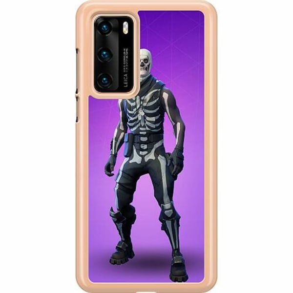 Huawei P40 Hard Case (Transparent) Fortnite Skull Trooper