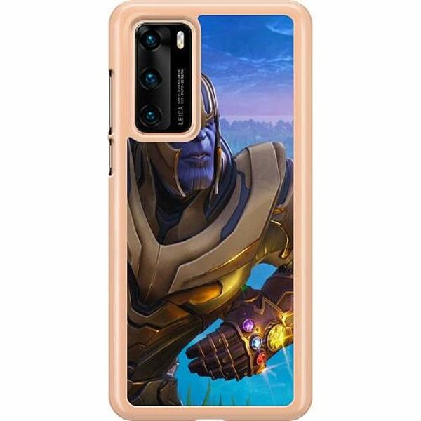 Huawei P40 Hard Case (Transparent) Fortnite Thanos
