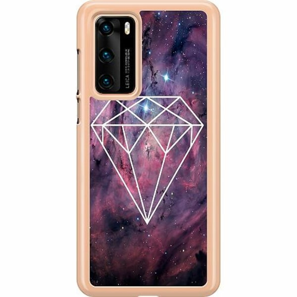 Huawei P40 Hard Case (Transparent) Galaxy Diamant