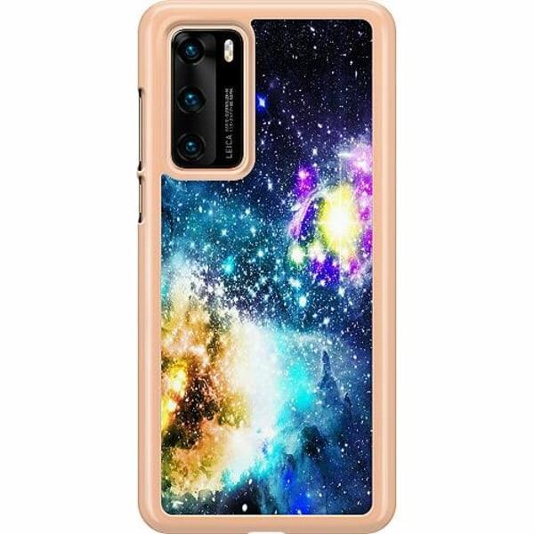 Huawei P40 Hard Case (Transparent) Galaxy