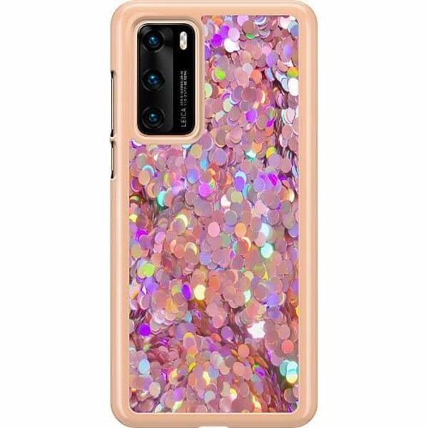 Huawei P40 Hard Case (Transparent) Glitter