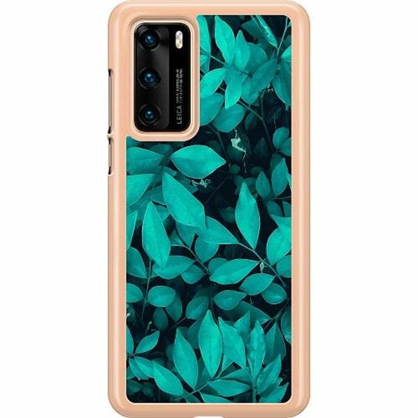 Huawei P40 Hard Case (Transparent) Green Bliss