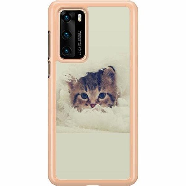 Huawei P40 Hard Case (Transparent) Grumpy Cat
