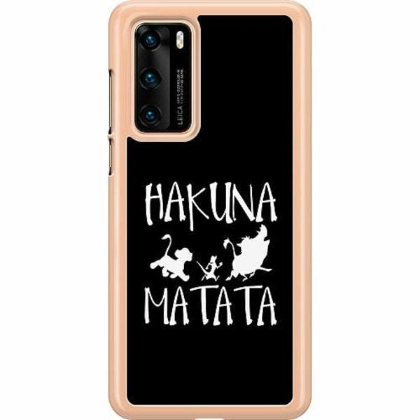 Huawei P40 Hard Case (Transparent) Hakuna Matata