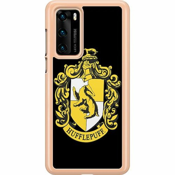 Huawei P40 Hard Case (Transparent) Harry Potter - Hufflepuff