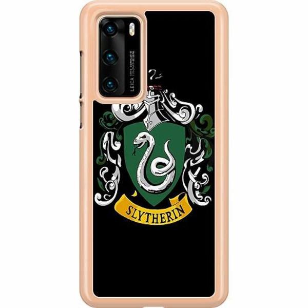 Huawei P40 Hard Case (Transparent) Harry Potter - Slytherin