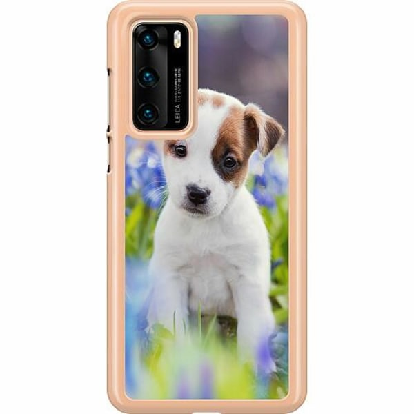 Huawei P40 Hard Case (Transparent) Hello Doggo
