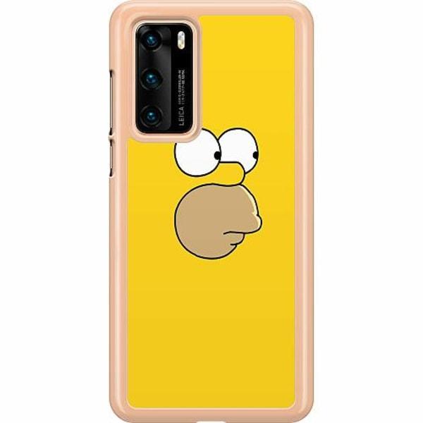 Huawei P40 Hard Case (Transparent) Homer Simpson