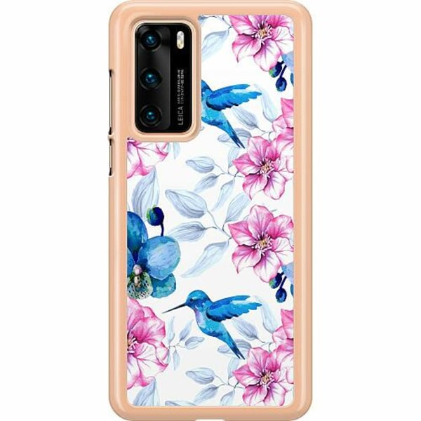 Huawei P40 Hard Case (Transparent) Hummingbird