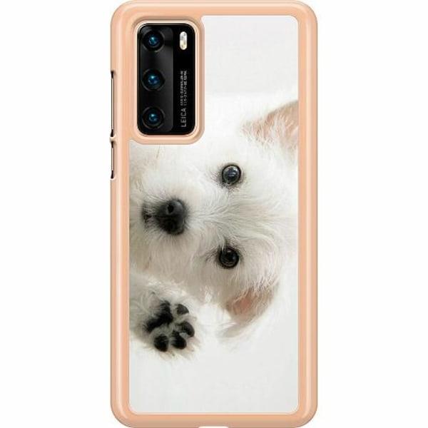 Huawei P40 Hard Case (Transparent) Hund