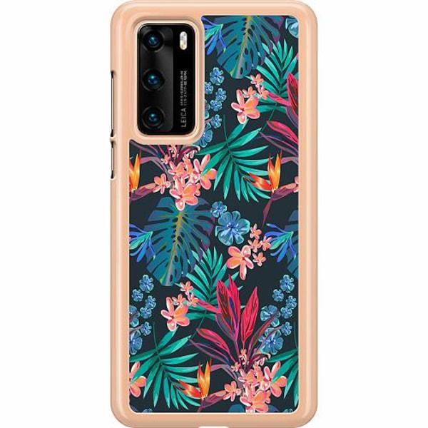 Huawei P40 Hard Case (Transparent) Jungle Vibe