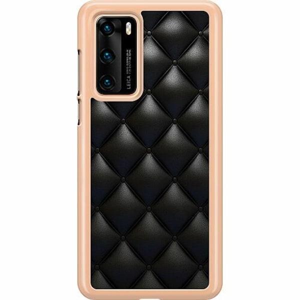 Huawei P40 Hard Case (Transparent) Leather Black