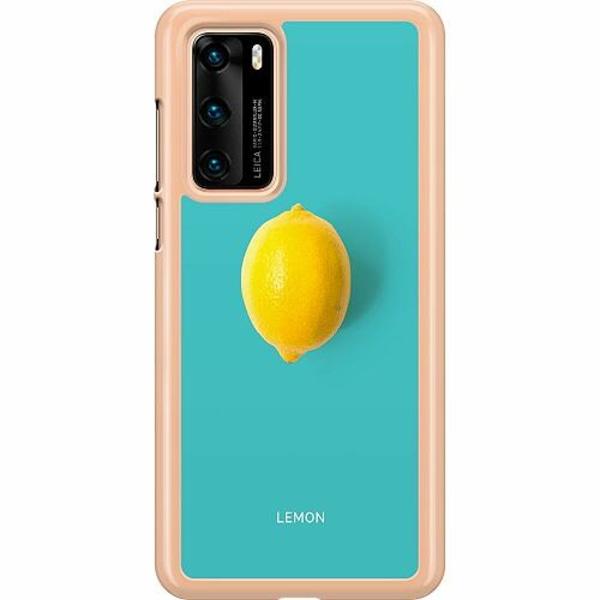 Huawei P40 Hard Case (Transparent) Lemon
