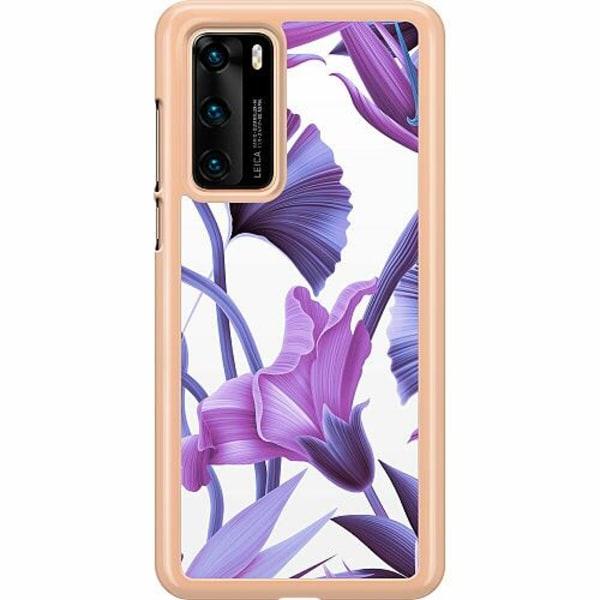 Huawei P40 Hard Case (Transparent) Lilac Bloom