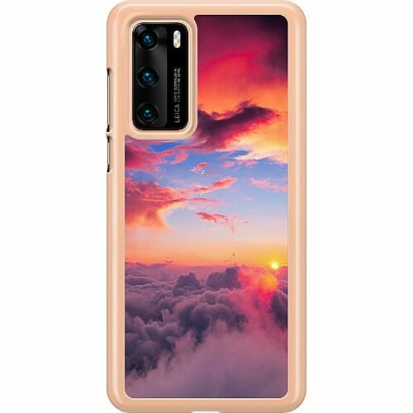 Huawei P40 Hard Case (Transparent) Lovely Sky