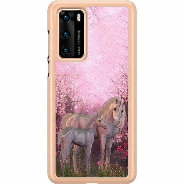 Huawei P40 Hard Case (Transparent) Magic Unicorns