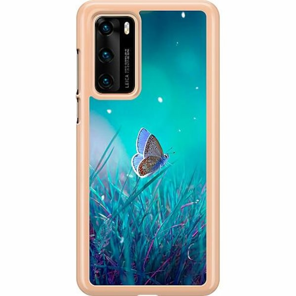 Huawei P40 Hard Case (Transparent) Magical Butterfly