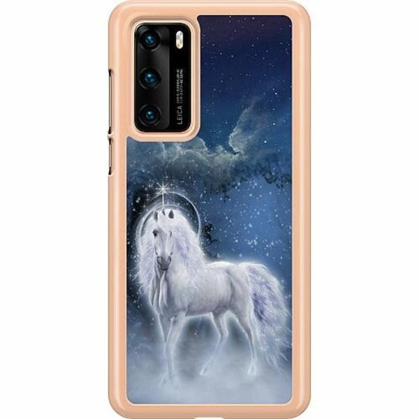 Huawei P40 Hard Case (Transparent) Magical Horse