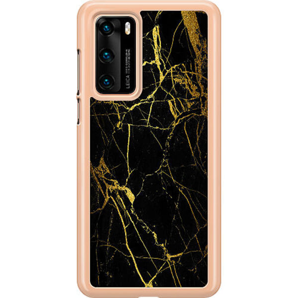 Huawei P40 Hard Case (Transparent) Marmor