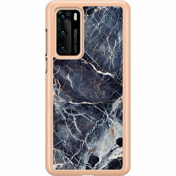 Huawei P40 Hard Case (Transparent) Marbled