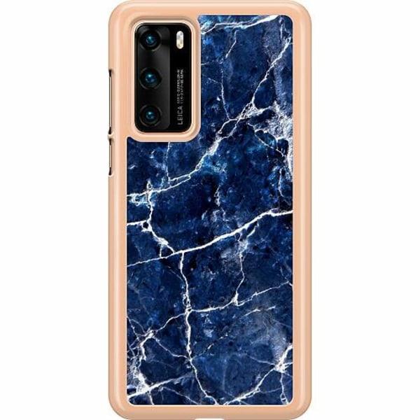 Huawei P40 Hard Case (Transparent) Marbles x2