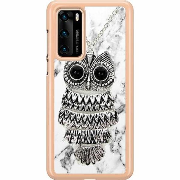 Huawei P40 Hard Case (Transparent) Marmor Uggla