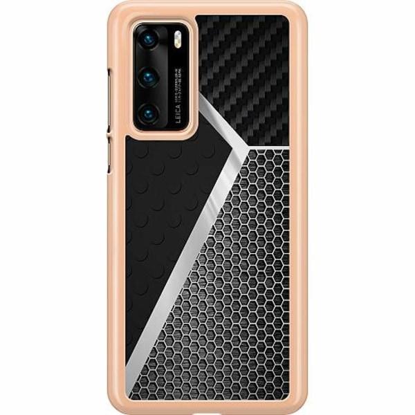 Huawei P40 Hard Case (Transparent) Metallic Pattern