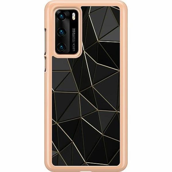Huawei P40 Hard Case (Transparent) Midnight