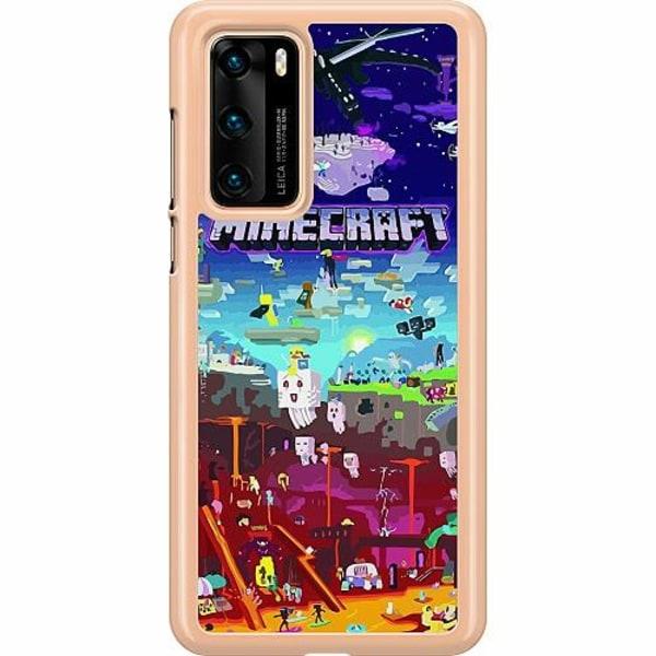 Huawei P40 Hard Case (Transparent) MineCraft