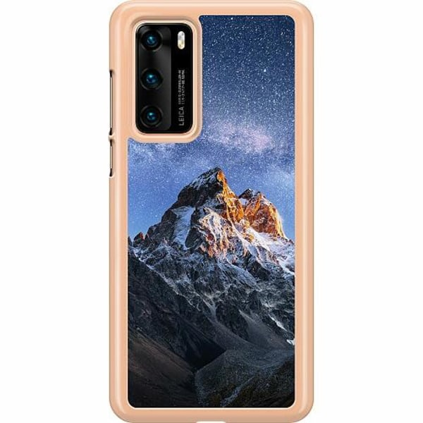 Huawei P40 Hard Case (Transparent) Mountains