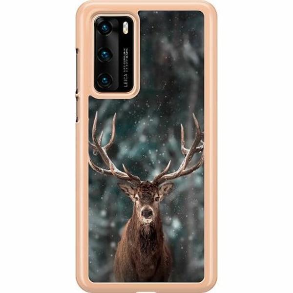 Huawei P40 Hard Case (Transparent) Oh Deer