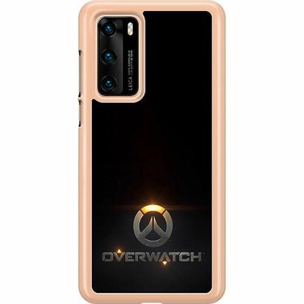 Huawei P40 Hard Case (Transparent) Overwatch Logo