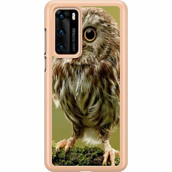 Huawei P40 Hard Case (Transparent) Owl