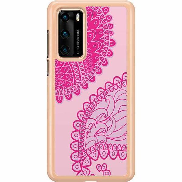 Huawei P40 Hard Case (Transparent) Pinkish Life